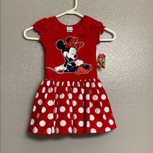 Disney Minnie Mouse polka dot dress sz 3t